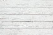 White wooden board background