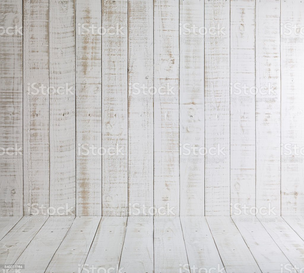 White Wooden Boards Background stock photo