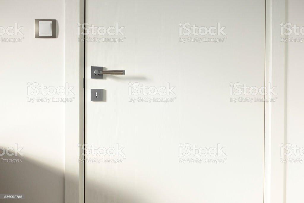 White wooden door stock photo