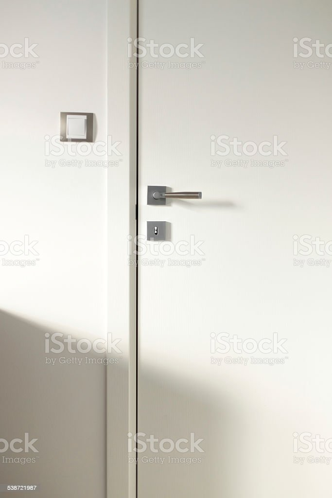 White wooden door stock photo