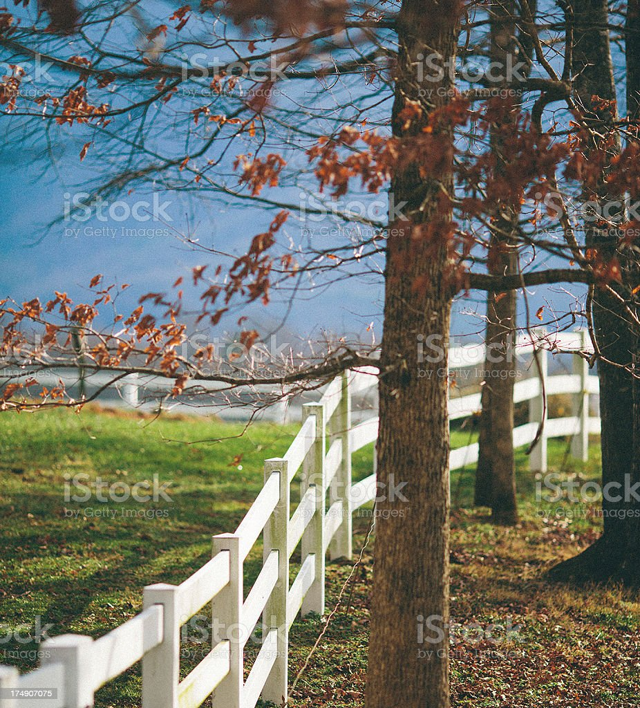 white wooden fence royalty-free stock photo