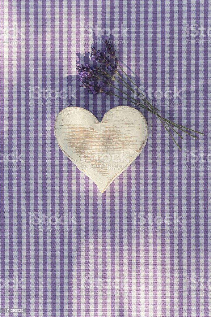 white wooden heart royalty-free stock photo