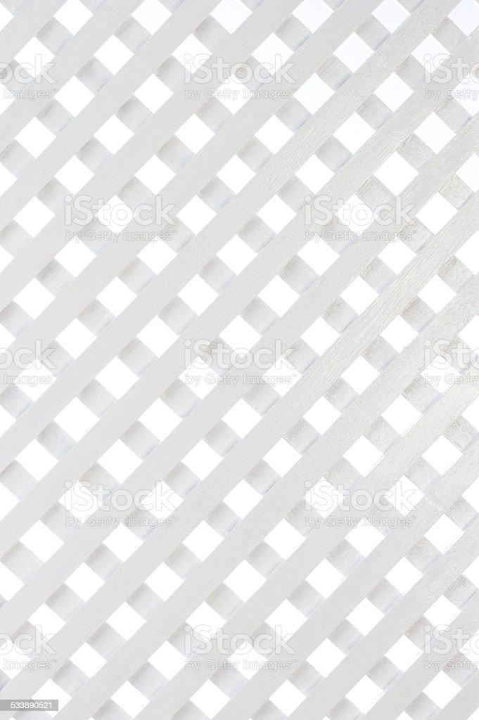 White wooden lattice stock photo