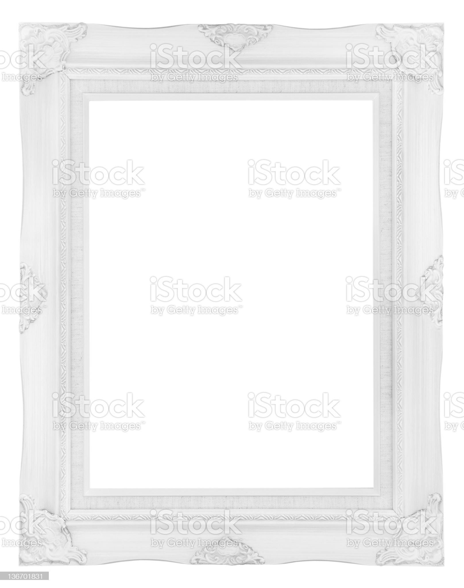 white wooden picture frame royalty-free stock photo