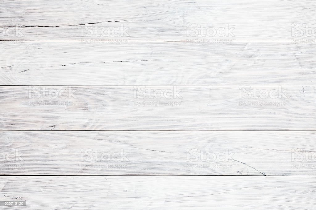 White wooden table background stock photo