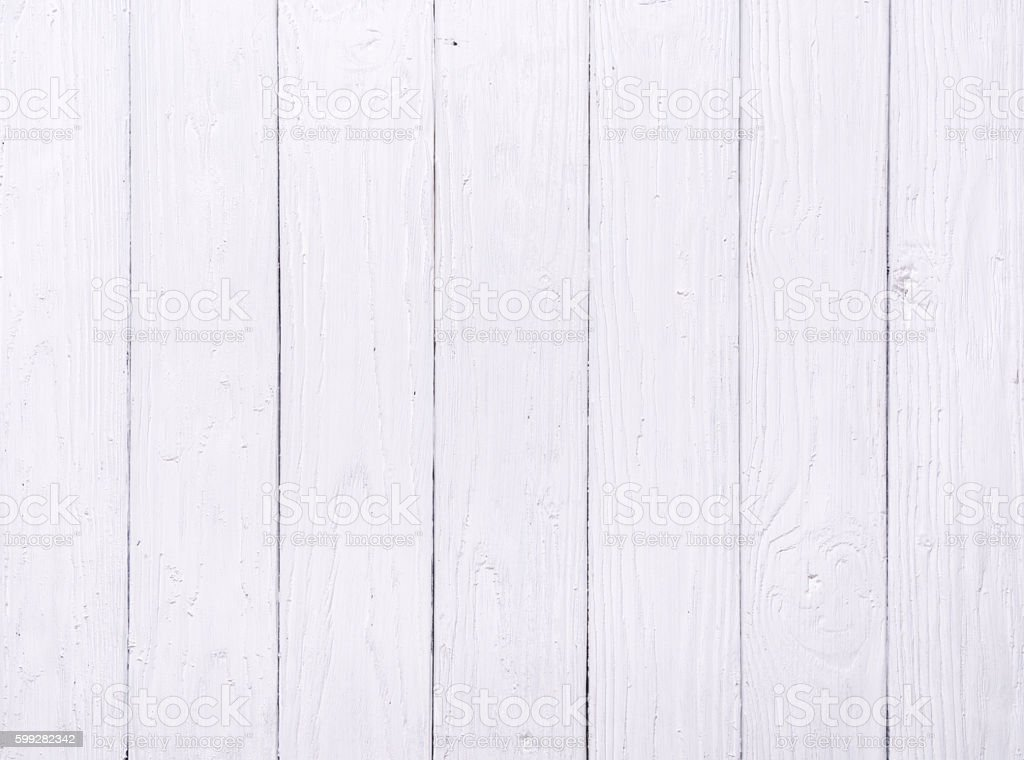 White wooden table. stock photo