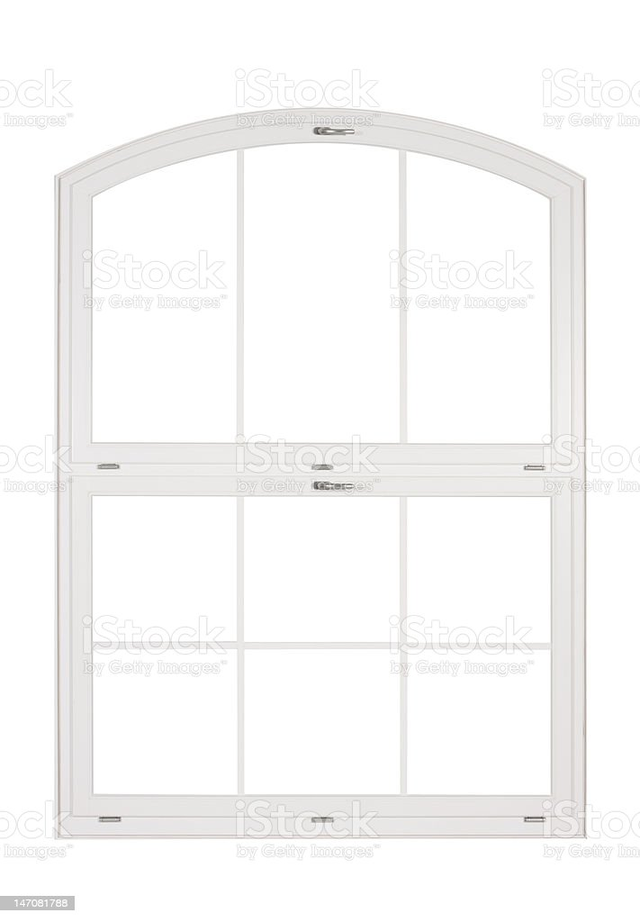 White wooden window with added clipping path royalty-free stock photo