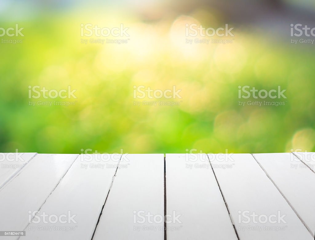 white wooden with blurred background stock photo