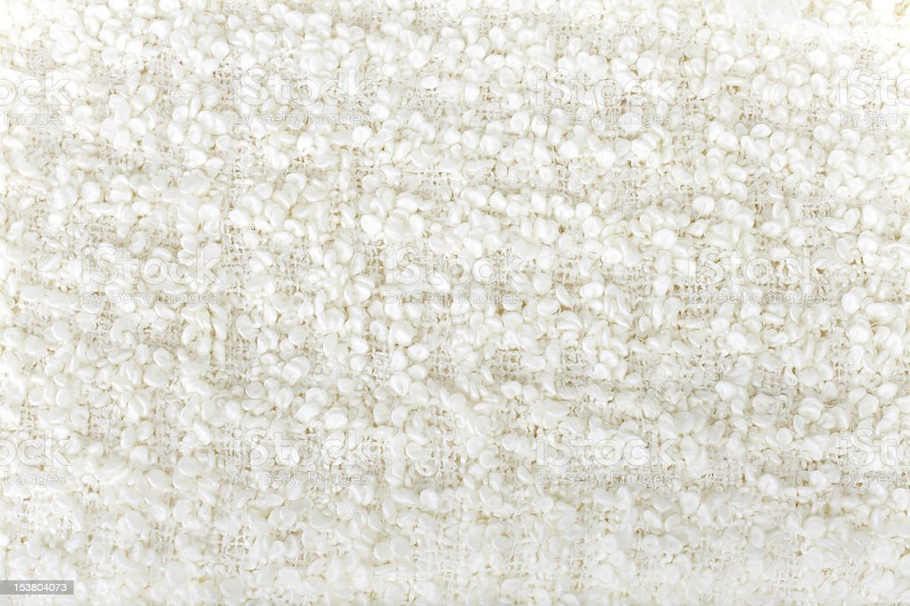 White  wool  boucle texture stock photo