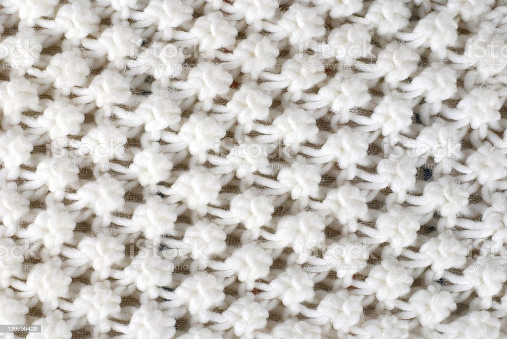White wool knitted texture royalty-free stock photo