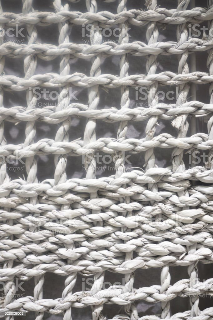 White Woven Wicker Background stock photo