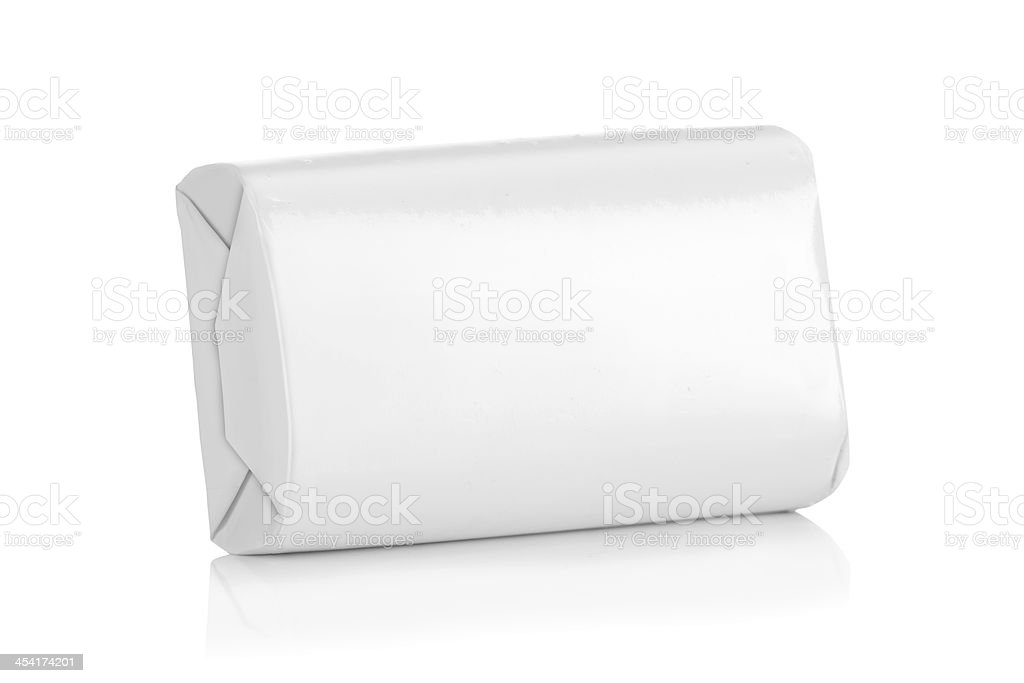 White wrap box package stock photo