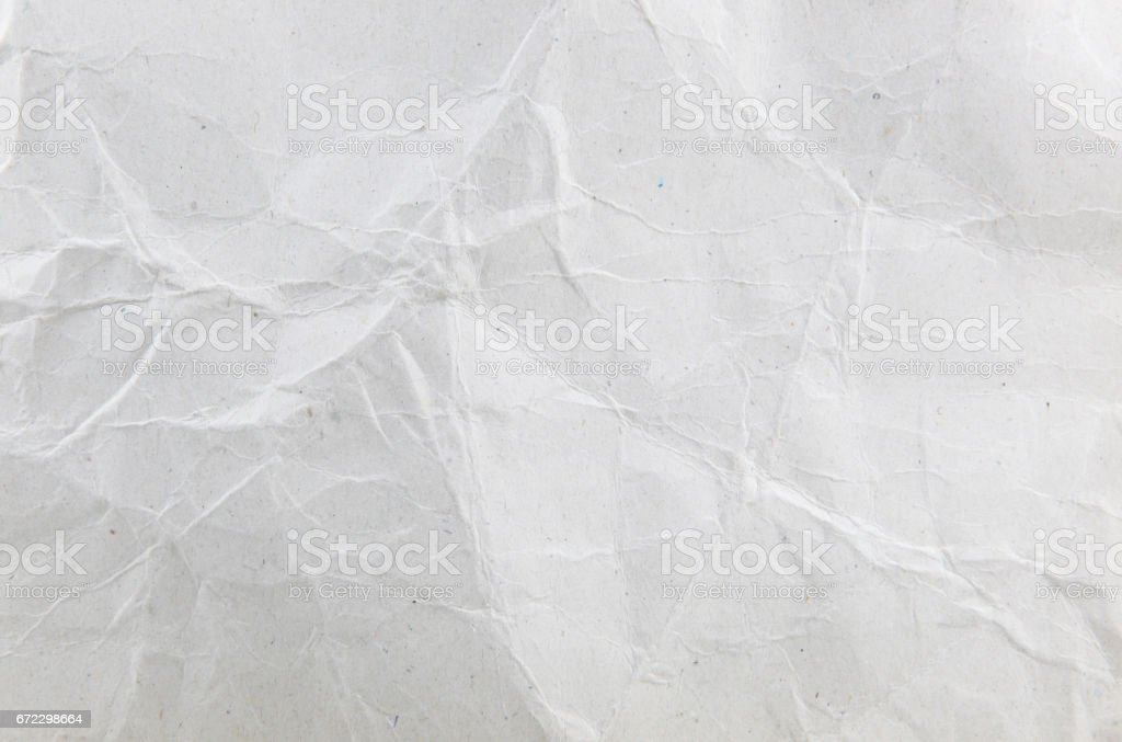 White wrinkle paper texture background stock photo