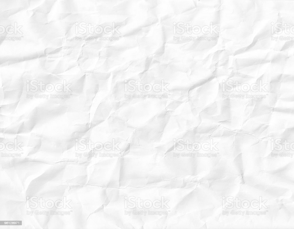 White wrinkled crushed paper royalty-free stock photo