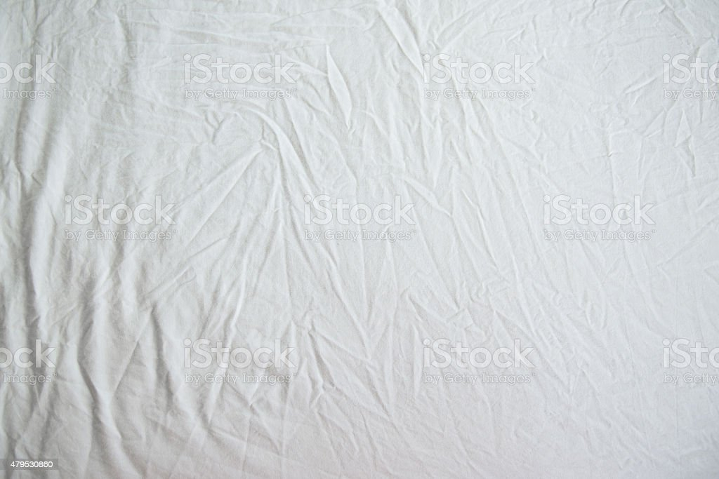 White Wrinkled Fabric Texture stock photo