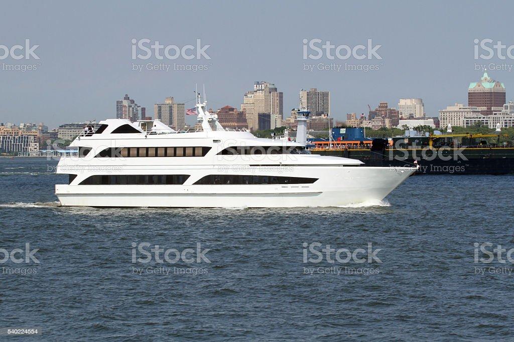 White Yacht stock photo