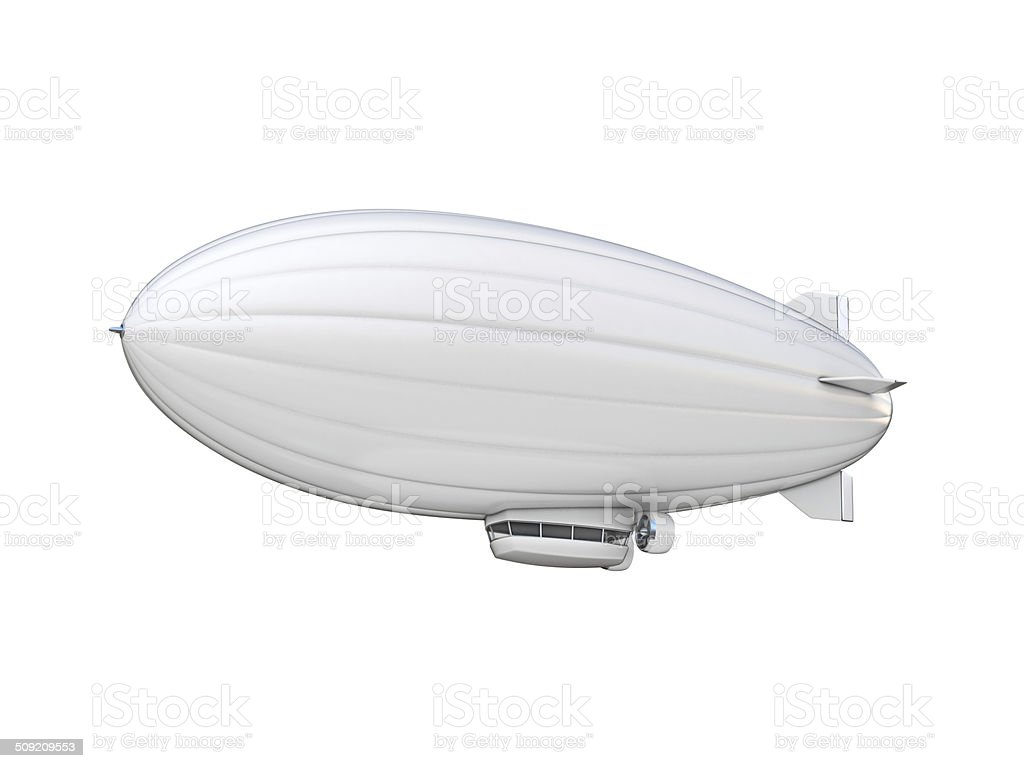 white zeppelin copy space stock photo