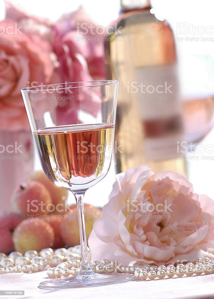 white zinfandel vino foto de stock libre de derechos