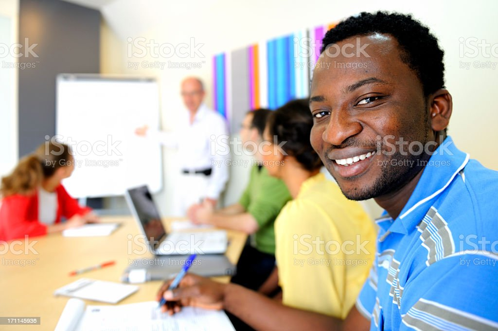 Whiteboard Discussion royalty-free stock photo