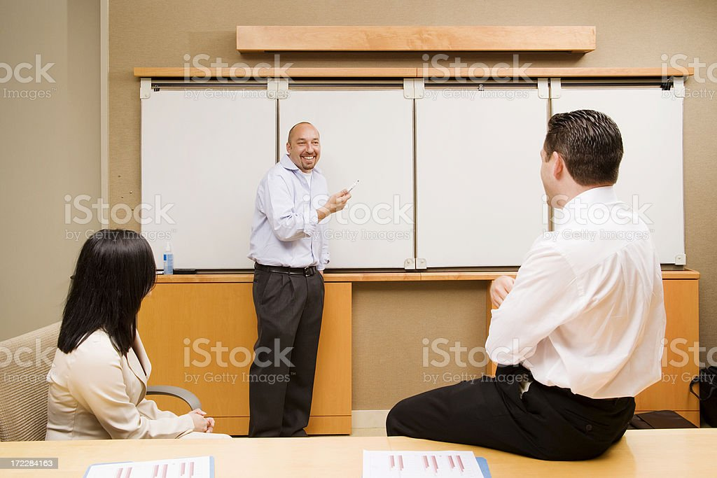 Whiteboard Meeting royalty-free stock photo