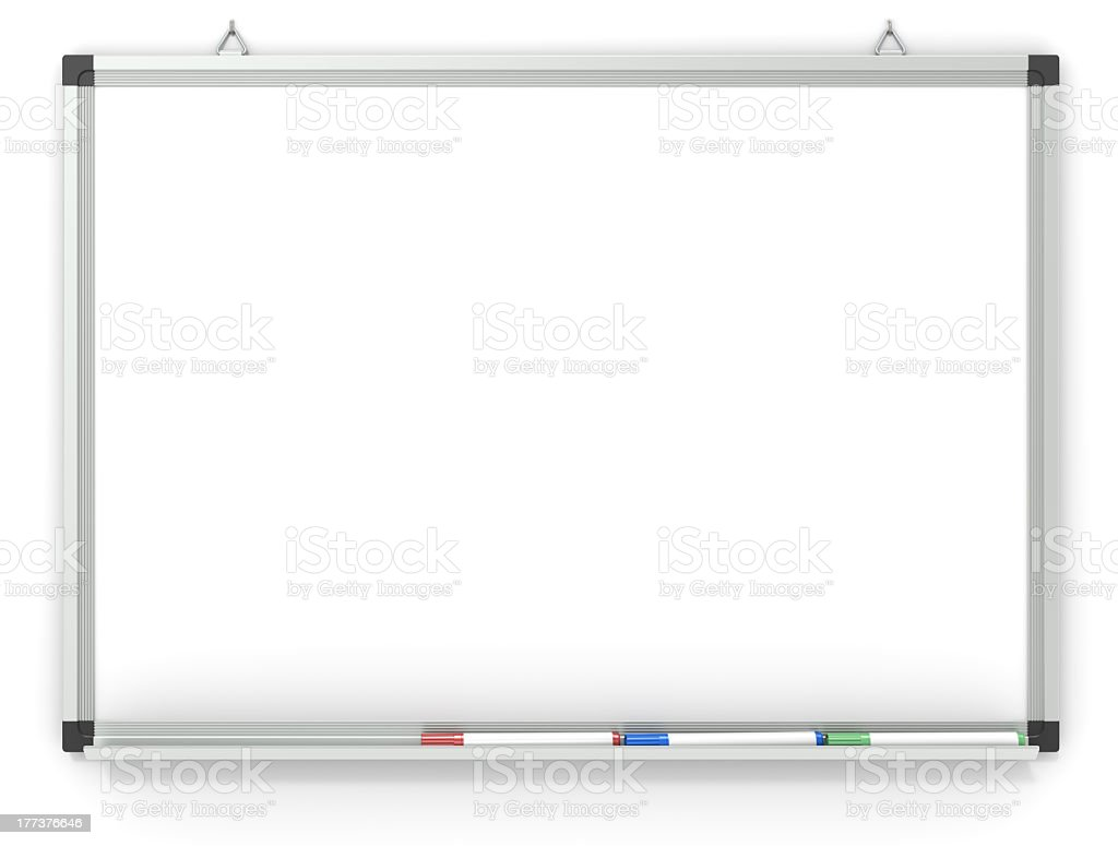 Whiteboard. royalty-free stock photo