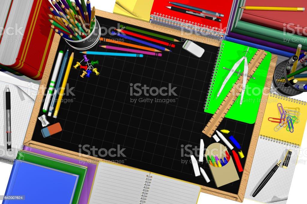 Lavagna cancelleria per scuola e ufficio stock photo