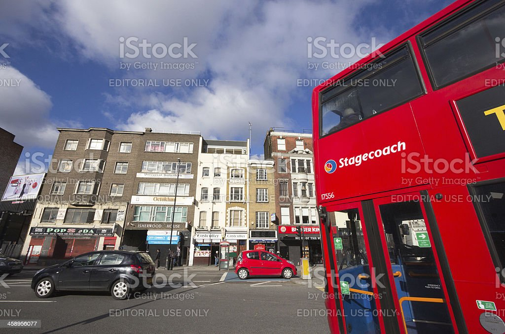 Whitechapel in London, England stock photo