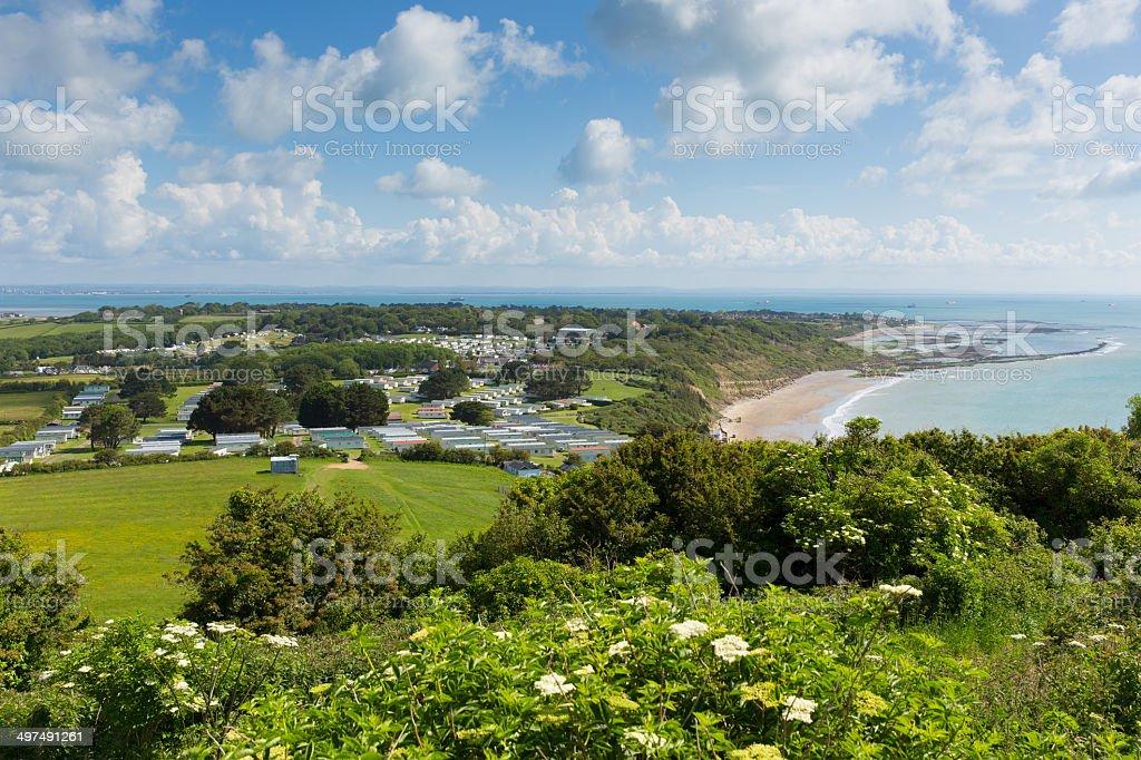 Whitecliff Bay Isle of Wight near Bembridge stock photo