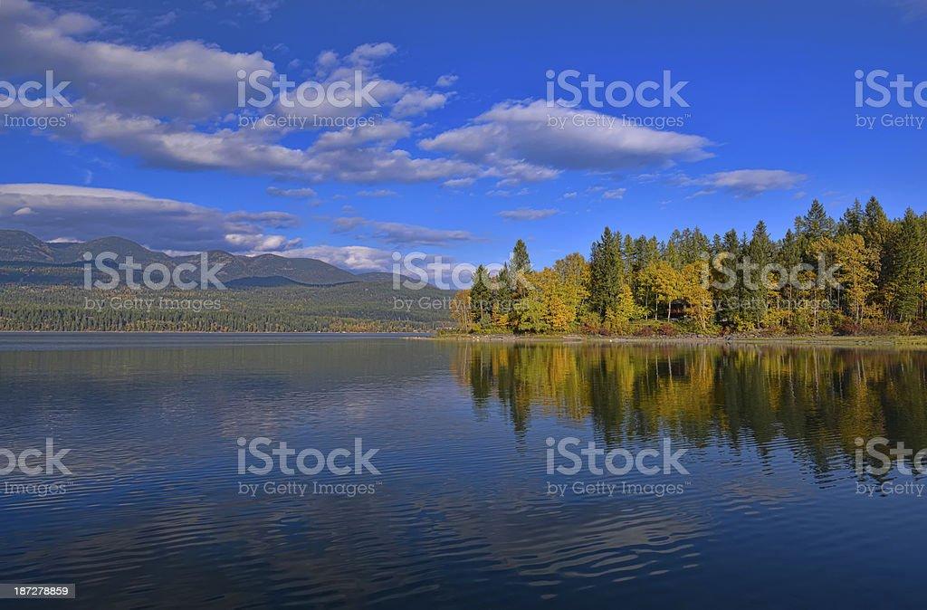 Whitefish Lake stock photo