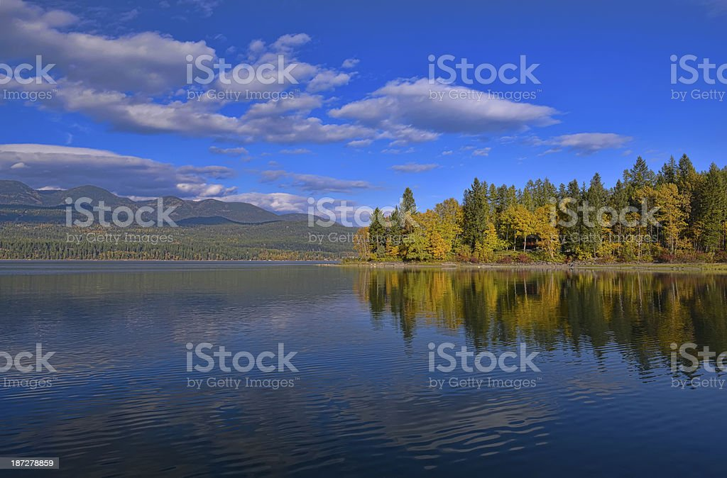 Whitefish Lake stock photo