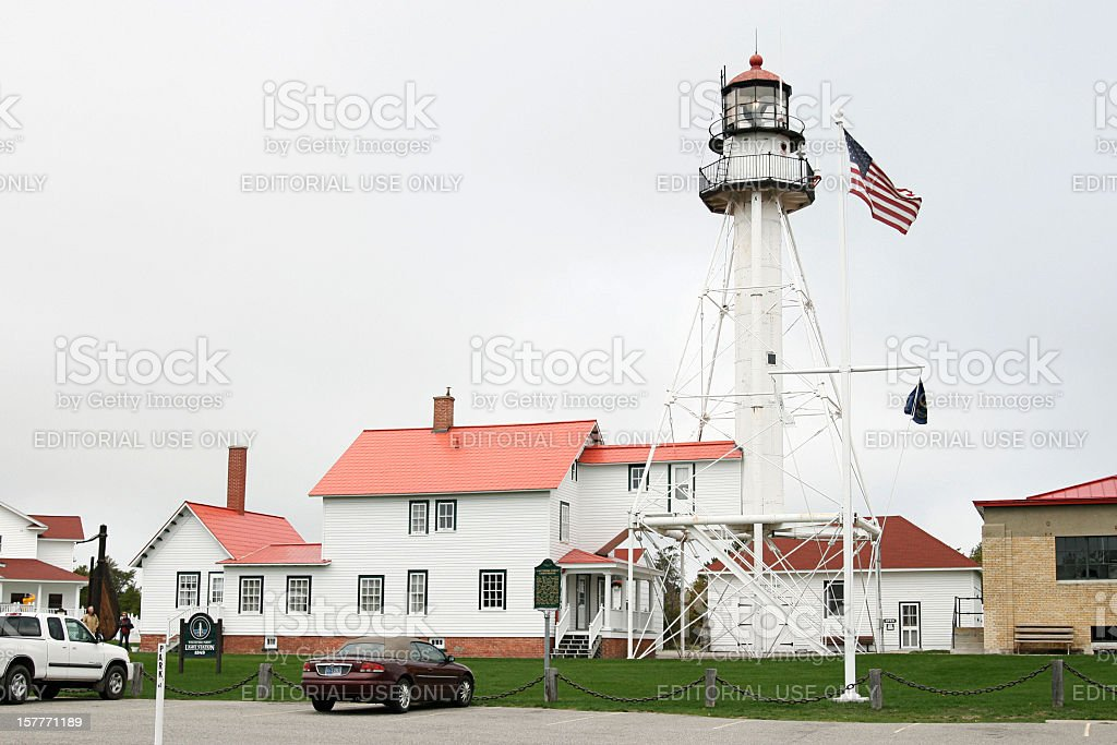 Whitefish Point Light Station stock photo