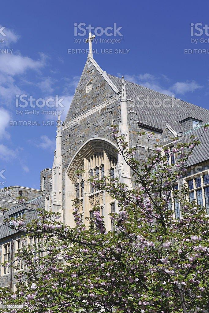 White-Gravenor Hall in Georgetown University royalty-free stock photo