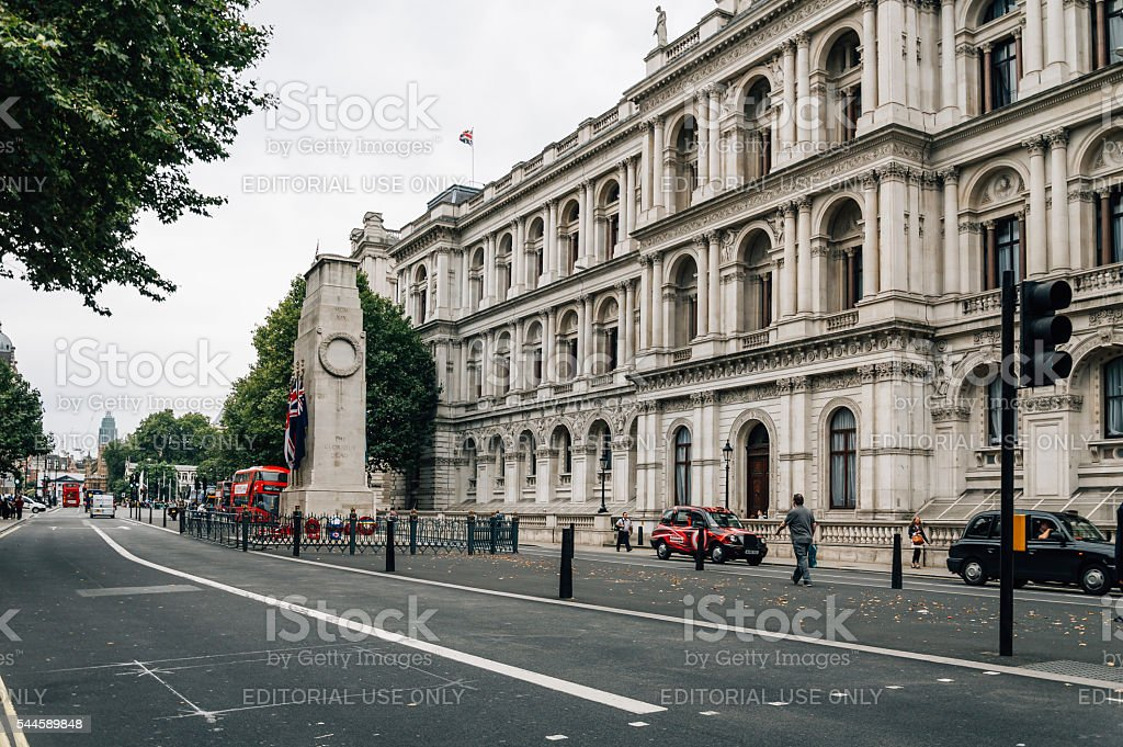 Whitehall and Foreign Office in London stock photo