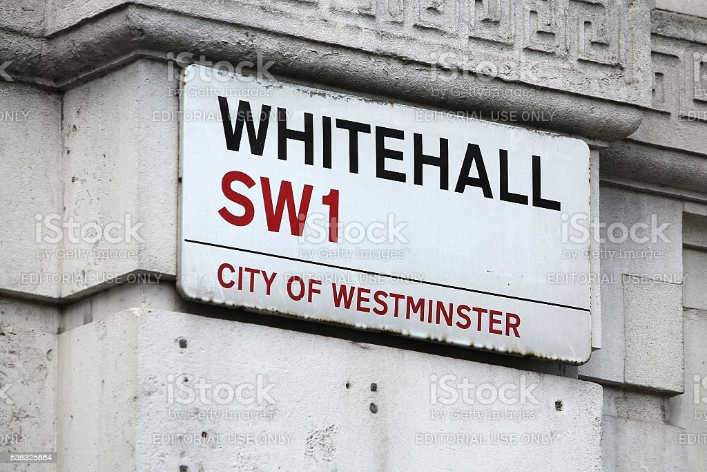Whitehall, London stock photo