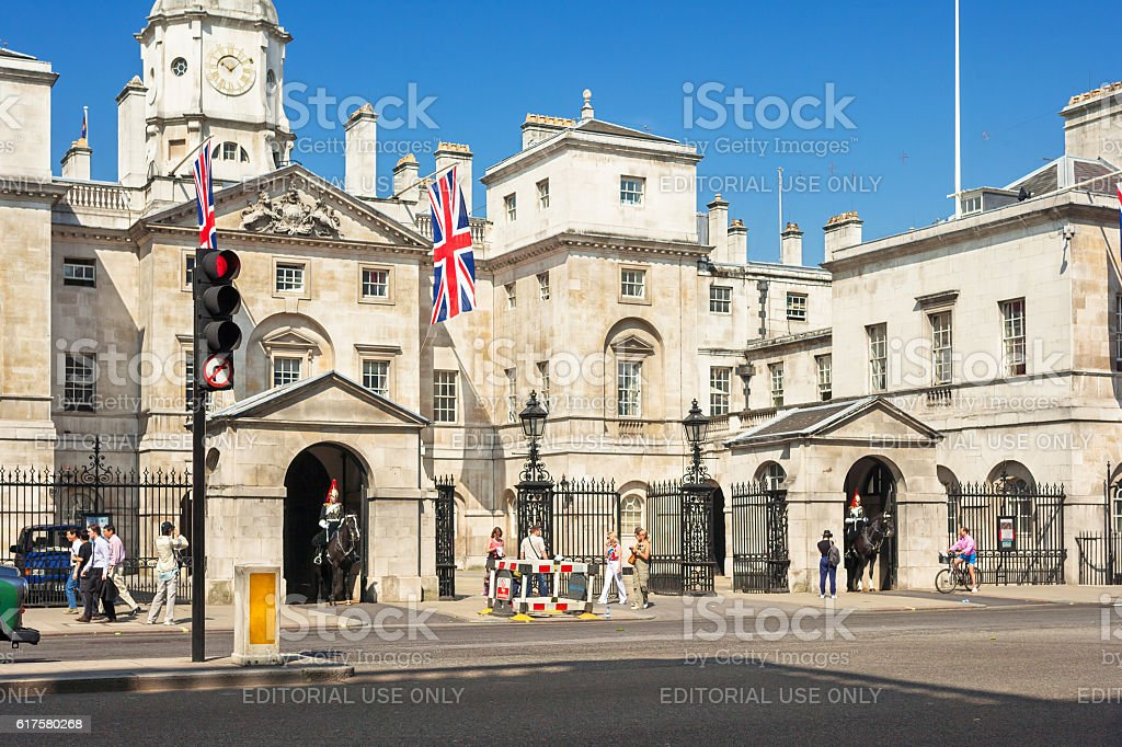 Whitehall - Royal Horse Guard Palace. London, UK stock photo
