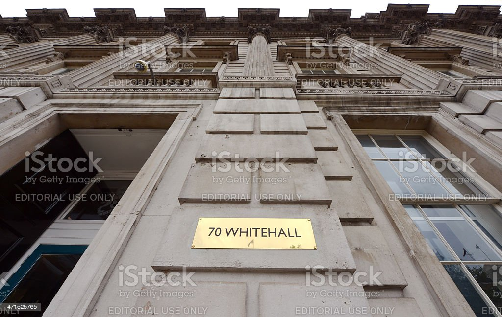 Whitehall sign royalty-free stock photo