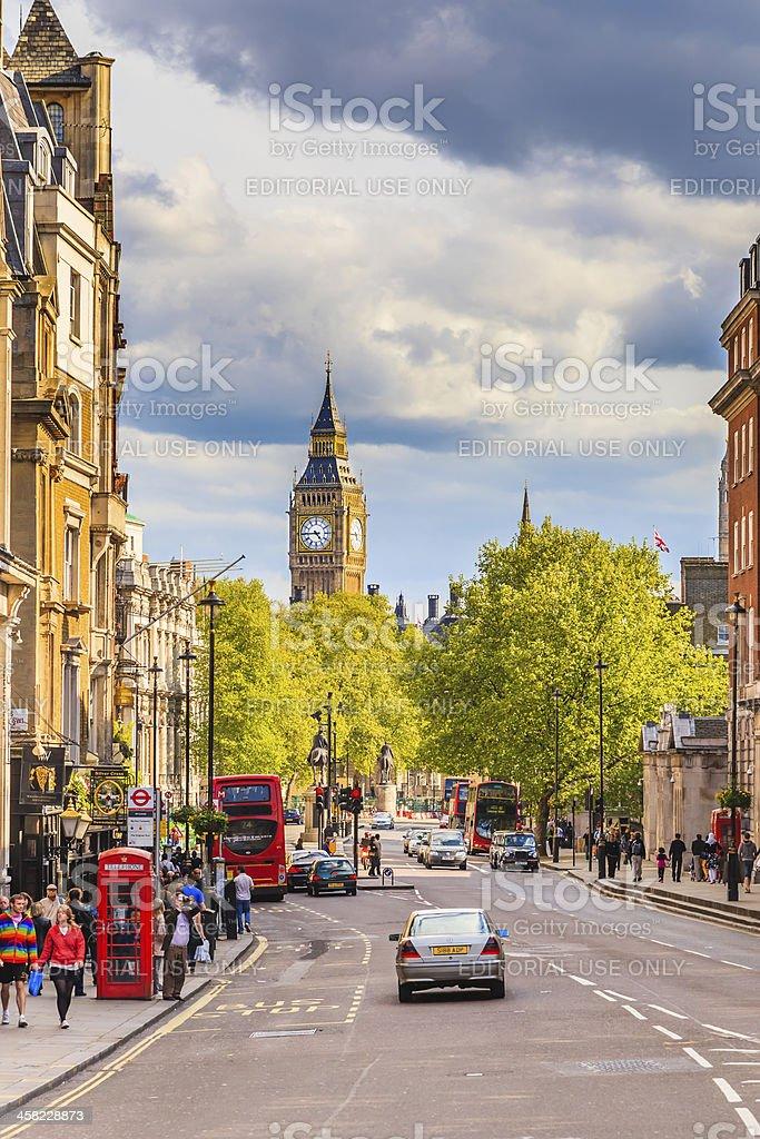 Whitehall sreet in London royalty-free stock photo