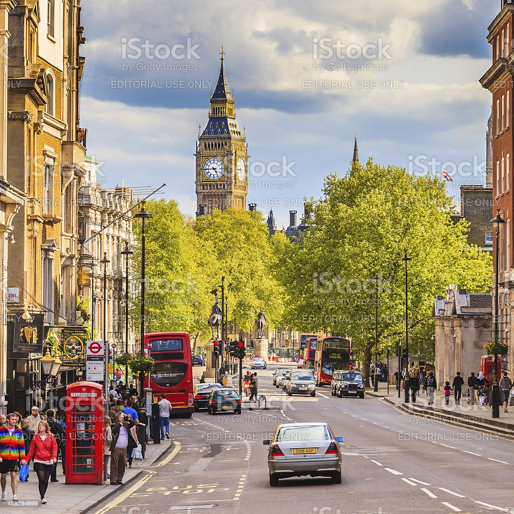 Whitehall sreet, London royalty-free stock photo