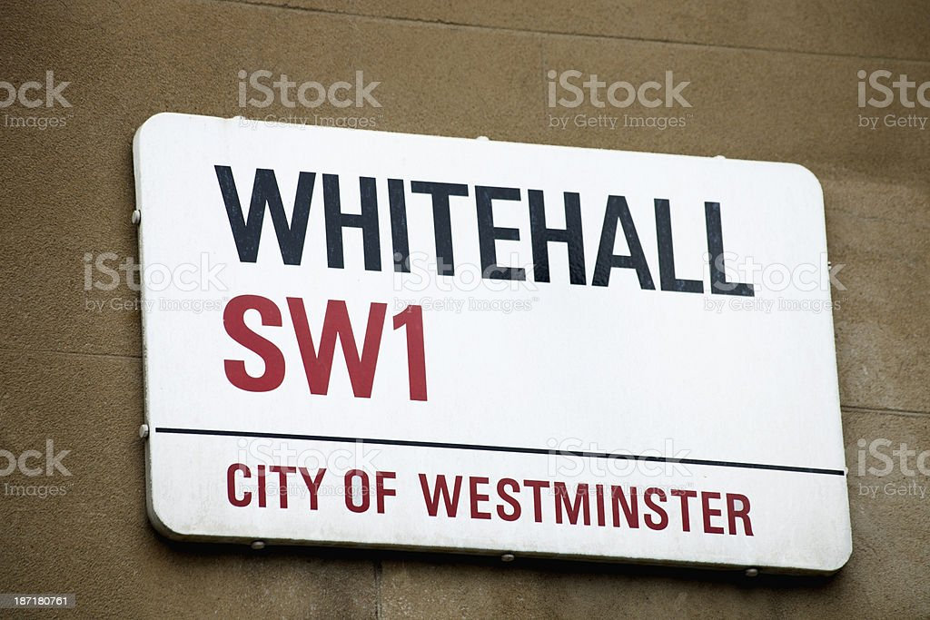 Whitehall St sign stock photo