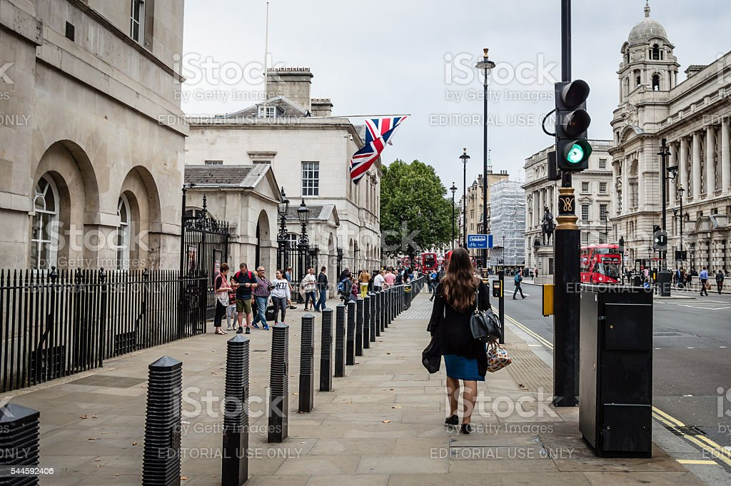 Whitehall street in London stock photo