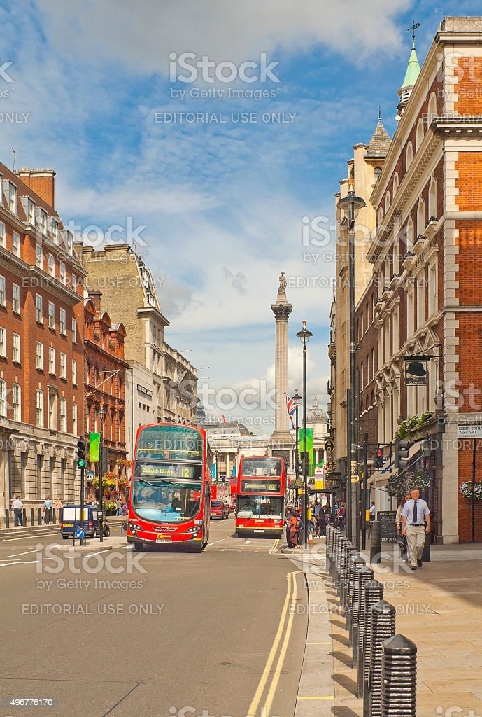 Whitehall street in London, United Kingdom stock photo