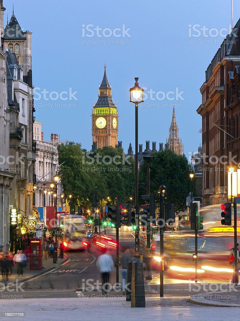 Whitehall street scene, London stock photo
