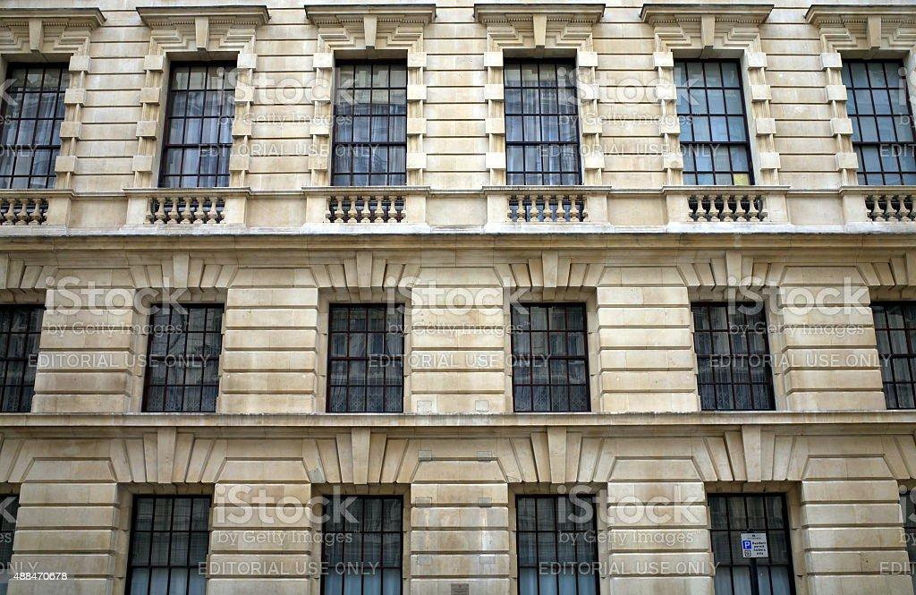 Whitehall Windows stock photo