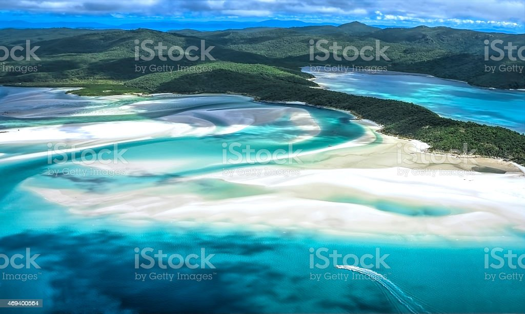 Whitehaven Beach at Whitsunday Island Queensland stock photo