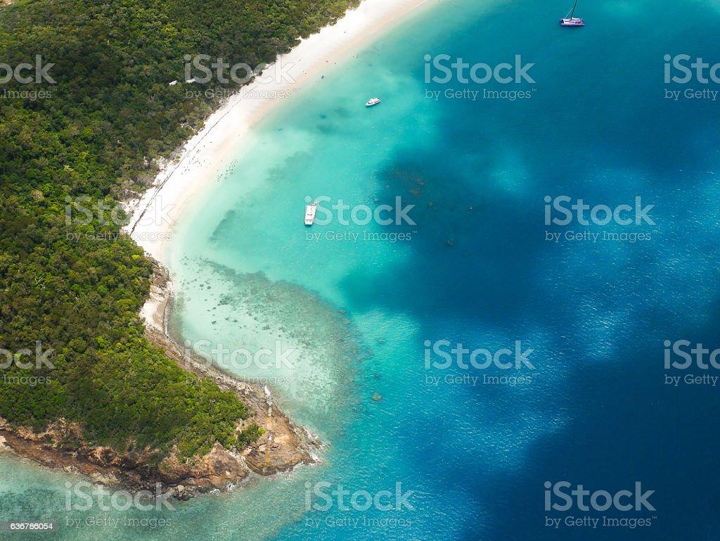 Whitehaven Beach - Great Barrier Reef Australia stock photo