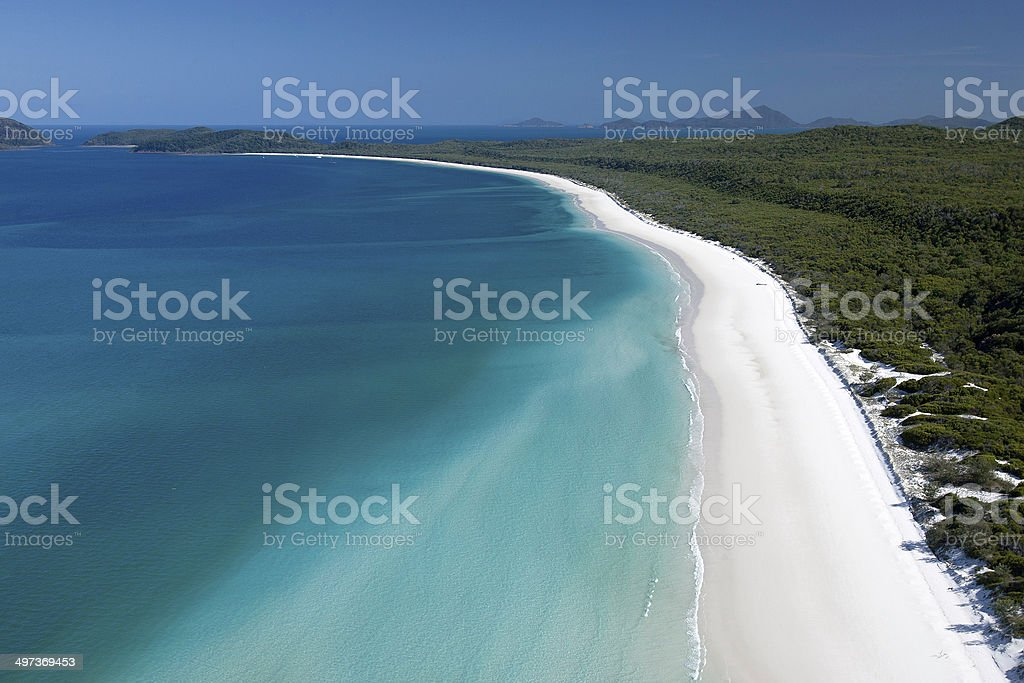 Whitehaven Beach, Whitsunday Island, Queensland, Australia royalty-free stock photo