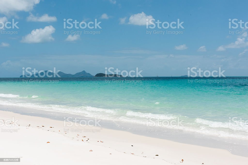 Whitehaven Beach, Whitsunday Island, Queensland, Australia stock photo