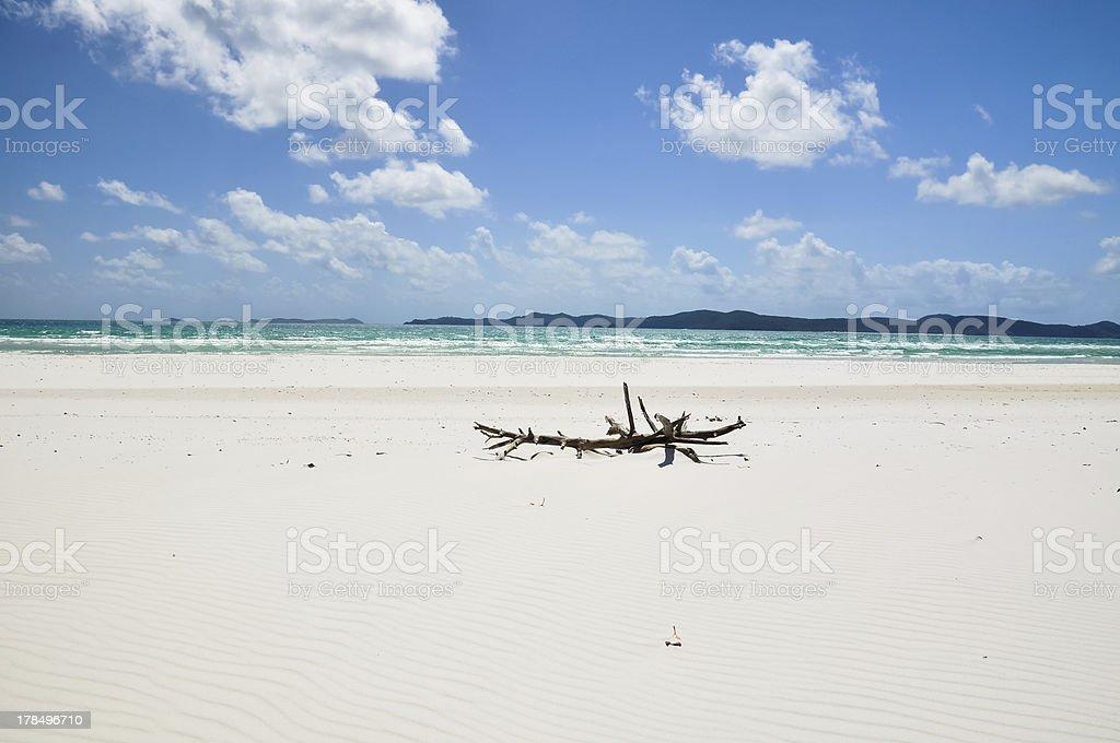 Whitehaven Beach, Whitsunday Islands royalty-free stock photo