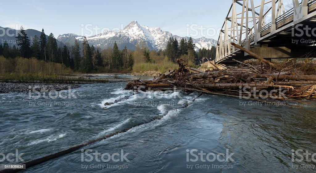 Whitehorse Mountain North Cascades Darrington WA Sauk River stock photo