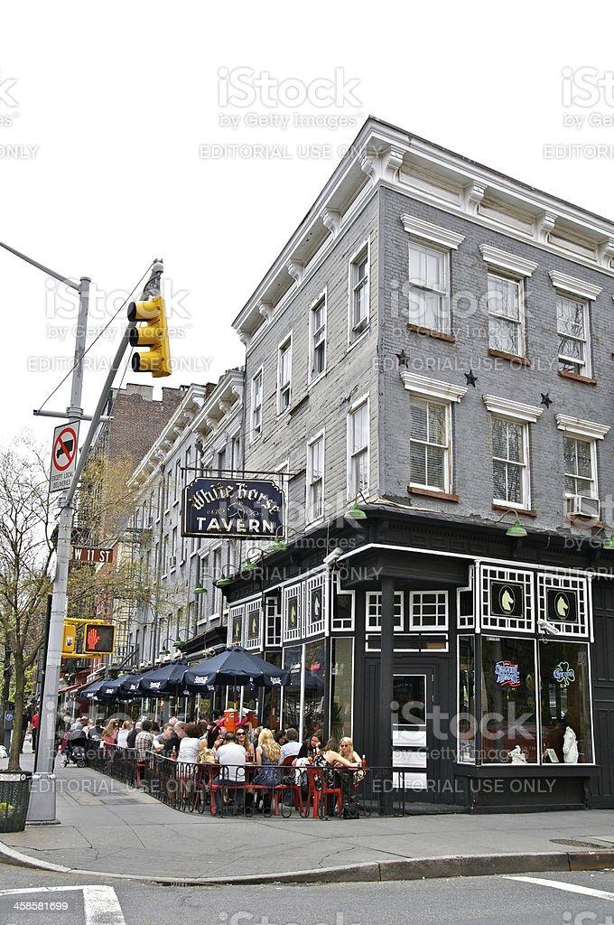 Whitehorse Tavern, West Greenwich Village, New York City stock photo